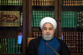 Iranian President Hassan Rouhani is present in the meeting of the Supreme Council of Cyberspace, Tehran, Iran, October 5, 2019.