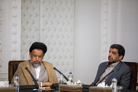 Intelligence Minister Mahmoud Alavi (L) is present in the meeting of the Supreme Council of Cyberspace, Tehran, Iran, October 5, 2019.