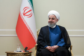 Meeting between Iranian President Hassan Rouhani and medalists of international Science Olympiads, Tehran, Iran, October 6, 2019.