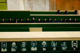 On the sidelines of the public session of Iran's Parliament held in the presence of Iranian Foreign Minister Mohammad Javad Zarif, Tehran, Iran, October 6, 2019. Mr Zarif attended the Parliamentary session for answering MPs' questions.