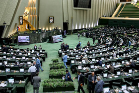 Public session of Iran's Parliament held in the presence of Iranian Foreign Minister Mohammad Javad Zarif, Tehran, Iran, October 6, 2019. Mr Zarif attended the Parliamentary session for answering MPs' questions.