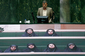 Public session of Iran's Parliament is held in the presence of Iranian Foreign Minister Mohammad Javad Zarif, Tehran, Iran, October 6, 2019. Mr Zarif attended the Parliamentary session for answering MPs' questions.