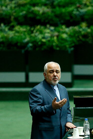 Iranian Foreign Minister Mohammad Javad Zarif answers the questions of MPs in the public session of Iran's Parliament, Tehran, Iran, October 6, 2019.