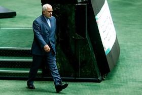 Iranian Foreign Minister Mohammad Javad Zarif is seen on the sidelines of Iran's Parliamentary session, Tehran, Iran, October 6, 2019. Mr Zarif attended the Parliamentary session for answering MPs' questions.