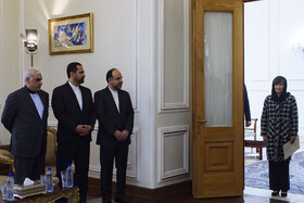 New Australian Ambassador to Iran Lyndall Sachs (R) is seen before her meeting with Iranian Foreign Minister Mohammad Javad Zarif, Tehran, Iran, October 6, 2019.
