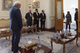 Iranian Foreign Minister Mohammad Javad Zarif (L) is seen before his meeting with the new Australian ambassador to Iran, Tehran, Iran, October 6, 2019.