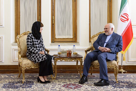 Meeting between Iranian Foreign Minister Mohammad Javad Zarif (R) and the new Australian Ambassador to Iran Lyndall Sachs, Tehran, Iran, October 6, 2019.