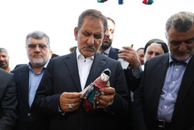 Iranian First Vice-President Es'haq Jahangiri is seen during his visit to South Khorasan Province in order to launch some projects and visit a number of development plans, South Khorasan Province, Iran, October 7, 2019.