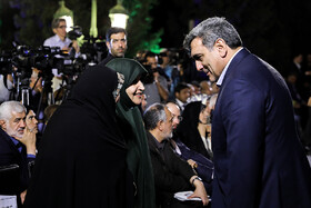 "Tehran Mayor Pirouz Hanachi (R) is present in the ceremony for marking ""Tehran Day"", Tehran, Iran, October 7, 2019.