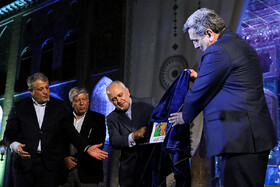 "Iranian Foreign Minister Mohammad Javad Zarif (2nd, R), Tehran Mayor Pirouz Hanachi (R) and Tehran City Council Chairman Mohsen Hashemi Rafsanjani (L) are present in the ceremony for marking ""Tehran Day"", Tehran, Iran, October 7, 2019.