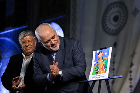 "Iranian Foreign Minister Mohammad Javad Zarif (R) is present in the ceremony for marking ""Tehran Day"", Tehran, Iran, October 7, 2019.