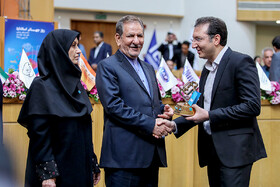 "Iranian First Vice-President Es'haq Jahangiri (M) is present in the commemoration ceremony of ""World Standards Day"", Tehran, Iran, October 8, 2019."