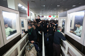 Pilgrims are seen at Khosravi Border Crossing, Kermanshah, Iran, October 8, 2019.