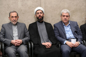 Iranian President's Deputy for Science and Technology, Sorena Sattari (R), is present in the meeting between Iran's Supreme Leader Ayatollah Ali Khamenei and academic elites and top scientific talents, Tehran, Iran, October 9, 2019.