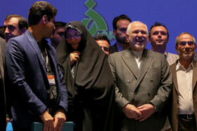 Iranian Foreign Minister Mohammad Javad Zarif (3rd, R) is present in the International Conference on Global Economy and Sanctions at Alzahra University, Tehran, Iran, October 9, 2019.