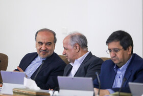 Minister of Sports and Youth Affairs Masoud Soltanifar (L) is present in the session of Iran's cabinet ministers, Tehran, Iran, October 9, 2019.