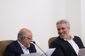 Tourism Minister Ali Asghar Mounesan (R) and Oil Minister Bijan Zanganeh are present in the session of Iran's cabinet ministers, Tehran, Iran, October 9, 2019.