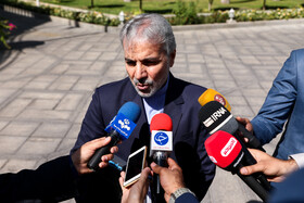 Head of the Plan and Budget Organization Mohammad Baqer Nobakht is seen on the sidelines of the session of Iran's cabinet ministers, Tehran, Iran, October 9, 2019.