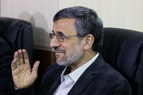 Iranian politician Mahmoud Ahamdi Nejad is present in the session of Iran's Expediency Discernment Council, Tehran, Iran, October 9, 2019.