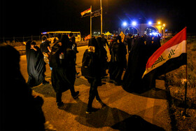 Pilgrims go to Iraq through Chazabeh border crossing in order to join Arbaeen March, Khuzestan, Iran, October 10, 2019. Arbaeen Day is a Shiite Muslim religious observance that occurs forty days after the Day of Ashura, in which Imam Hussain (PBUH) and his 72 disciples were martyred.