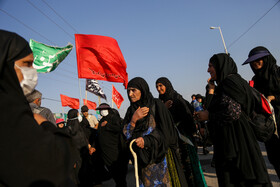 Pilgrims go to Iraq through Shalamcheh border crossing in order to join Arbaeen March, Khuzestan, Iran, October 5, 2019. Arbaeen Day is a Shiite Muslim religious observance that occurs forty days after the Day of Ashura, in which Imam Hussain (PBUH) and his 72 disciples were martyred.
