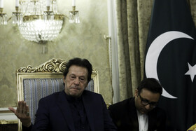 Pakistani Prime Minster Imran Khan is seen in his meeting with Iranian President Hassan Rouhani, Tehran, Iran, October 13, 2019.