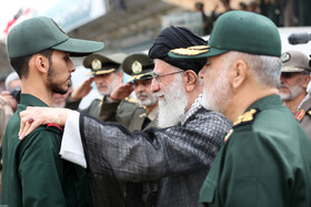 The graduation ceremony for the student officers and guards trainees at Imam Hussain (PBUH) Academy is held in the presence of Iran's Supreme Leader Ayatollah Ali Khamenei, Tehran, Iran, October 13, 2019.