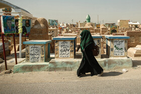 """Wadi-us-Salaam Cemetery is seen in the photo, Tehran, Iran, October 14, 2019. The cemetery is of great importance among Shiite Muslims due to its location close to the Holy Shrine of Imam Ali (BBUH), the first Shia Imam. Wadi-us-Salaam means """"Valley of Peace""""."""