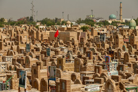 Wadi-us-Salaam Cemetery is seen in the photo, Tehran, Iran, October 14, 2019.