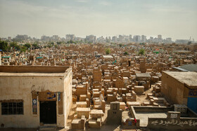 """Wadi-us-Salaam Cemetery is seen in the photo, Tehran, Iran, October 14, 2019. Wadi-us-Salaam, located in Najaf City of Iraq, is an ancient Islamic cemetery and also one of the world's largest cemeteries. Wadi-us-Salaam means """"Valley of Peace""""."""