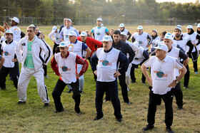 The Memorial of WHO Walk the Talk Event is held in the presence of Iran's Health Minister Saeed Namaki, Tehran, Iran, October 14, 2019.