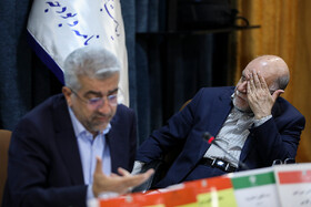 Iran's Oil Minister Bijan Zanganeh (R) and Iran's Energy Minister Reza Ardakanian are seen in Iran's Supreme Council of Spatial planning, Tehran, Iran, October 14, 2019.