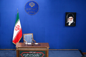 On the sidelines of Iranian President's press conference with domestic and foreign media, Tehran, Iran, October 14, 2019. Mr Rouhani answered questions of correspondents concerning the most important issues and the Islamic Republic of Iran's stances on regional and international issues.