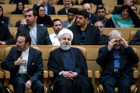 The opening ceremony of the 66th Session of the WHO Regional Committee for the Eastern Mediterranean is held in the presence of Iranian President Hassan Rouhani (M), Tehran, Iran, October 15, 2019. Health Ministers and high-level representatives from the 22 countries and territories of the WHO Eastern Mediterranean Region have taken part in the 66th edition of the Session, which will continue until 17 October in Tehran.