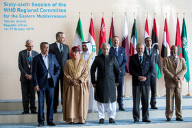 The opening ceremony of the 66th Session of the WHO Regional Committee for the Eastern Mediterranean is held in the presence of Iranian President Hassan Rouhani, Tehran, Iran, October 15, 2019. Health Ministers and high-level representatives from the 22 countries and territories of the WHO Eastern Mediterranean Region have taken part in the 66th edition of the Session, which will continue until 17 October in Tehran.