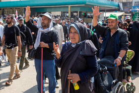 Pilgrims of Imam Hussain (PBUH) arrive in Karbala City, Iraq, October 15, 2019.