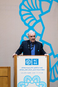 Iran's Health Minister Saeed Namaki delivers a speech during the opening ceremony of the 66th Session of the WHO Regional Committee for the Eastern Mediterranean is held in the presence of Iranian President Hassan Rouhani (M), Tehran, Iran, October 15, 2019. Health Ministers and high-level representatives from the 22 countries and territories of the WHO Eastern Mediterranean Region have taken part in the 66th edition of the Session, which will continue until 17 October in Tehran.