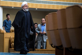 Iranian President Hassan Rouhani is seen on the sidelines of the opening ceremony of the 66th Session of the WHO Regional Committee for the Eastern Mediterranean, Tehran, Iran, October 15, 2019. Health Ministers and high-level representatives from the 22 countries and territories of the WHO Eastern Mediterranean Region have taken part in the 66th edition of the Session, which will continue until 17 October in Tehran.