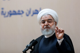 Iranian President Hassan Rouhani delivers a speech during the opening ceremony of the 66th Session of the WHO Regional Committee for the Eastern Mediterranean is held in the presence of Iranian President Hassan Rouhani (M), Tehran, Iran, October 15, 2019. Health Ministers and high-level representatives from the 22 countries and territories of the WHO Eastern Mediterranean Region have taken part in the 66th edition of the Session, which will continue until 17 October in Tehran.