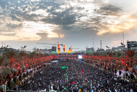 The Holy Shrines of Imam Hussain (PBUH) and Abbas ibn Ali (PBUH) are seen in the photo ahead of Arbaeen Day, Karbala, Iraq, October 16, 2019.