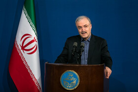 """Iran's Health Minister Saeed Namaki delivers a speech during a ceremony marking the beginning of academic year, Tehran, Iran, October 16, 2019. During the ceremony, President Hassan Rouhani said, """"Science is the basis for skill, advancement and development, and students have to learn skills and the future needs of the society alongside science""""."""