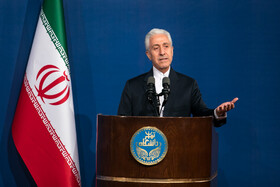 """Iran's Minister of Science, Research and  Technology Mansour Gholami delivers a speech during a ceremony marking the beginning of academic year, Tehran, Iran, October 16, 2019. During the ceremony, President Hassan Rouhani said, """"Science is the basis for skill, advancement and development, and students have to learn skills and the future needs of the society alongside science""""."""