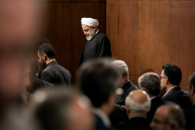 """On the sidelines of a ceremony marking the beginning of academic year in the presence of Iranian President Hassan Rouhani, Tehran, Iran, October 16, 2019. During the ceremony, President Hassan Rouhani said, """"Science is the basis for skill, advancement and development, and students have to learn skills and the future needs of the society alongside science""""."""