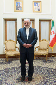 Iranian Foreign Minister Mohammad Javad Zarif is seen on the sidelines of his meetings with foreign officials, Tehran, Iran, October 16, 2019.