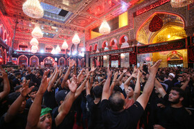 Mourners of Imam Hussain (PBUH) are seen in Karbala on the eve of Arbaeen, Iraq, October 18, 2019.
