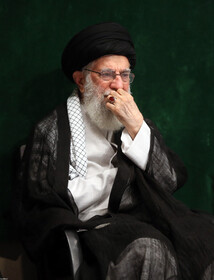 Iran's Supreme Leader Ayatollah Ali Khamenei is seen in an Arbaeen mourning ceremony held by groups of university students, Tehran, Iran, October 19, 2019.