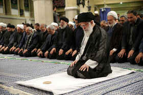 Iran's Supreme Leader Ayatollah Ali Khamenei leads noon prayer during an Arbaeen mourning ceremony held by groups of university students, Tehran, Iran, October 19, 2019.