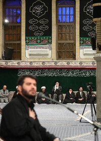 An Arbaeen mourning ceremony is held in the presence of Iran's Supreme Leader Ayatollah Ali Khamenei and groups of university students, Tehran, Iran, October 19, 2019.