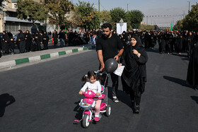 Mourners of Imam Hussain (PBUH) are seen while attending Arbaeen March, Tehran, Iran, October 19, 2019.