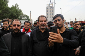 Iran's First Vice-President Es'haq Jahangiri (M) is seen during his visit from Iraq, October 19, 2019. Iran's First Vice-President Es'haq Jahangiri travelled to Iraq on Saturday in order to attend the mourning ceremony of Arbaeen in Iraqi city of Karbala as well as meeting with Iraqi officials responsible for holding Arbaeen rituals.